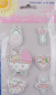 Preview: bieco Sticker mit BABYMOTIVEN  -rose-