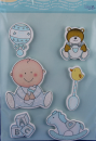 bieco Sticker mit BABYMOTIVEN  -blau-