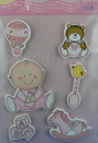 bieco Sticker mit BABYMOTIVEN  - rose-